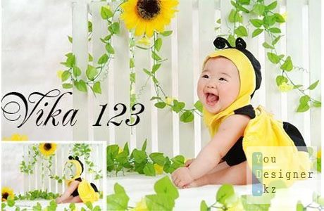Шаблон для фотошопа - Моя любимая пчелка