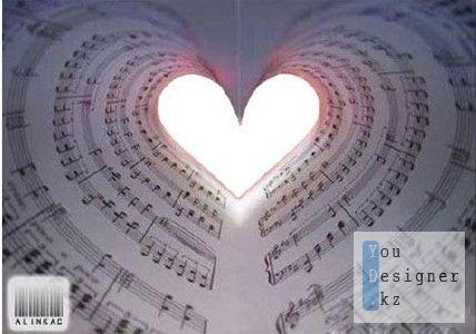 Рамка для фото - Музыка любви!