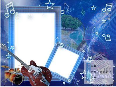 Рамка для фотошопа - Музыкальная