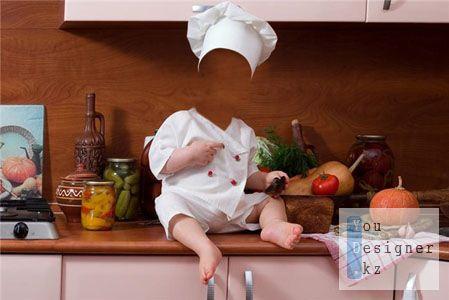 Шаблон для фотошоп – Маленький повар