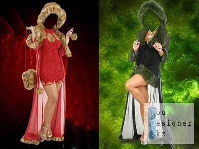 Необычные женские гламурные костюмы