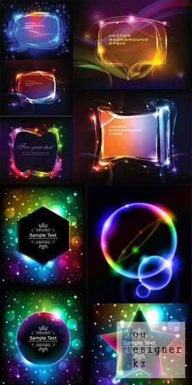 Неоновые фоны / Neon backgrounds