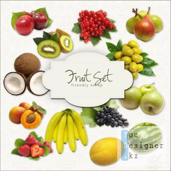 Скрап-набор Фрукты / Fruit