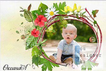 Нежная рамка для фотошоп – Капли росы / Delicate frame for photoshop - dew drops