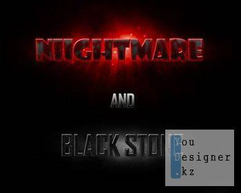 Стили для фотошоп - Nightmare and Black Stone
