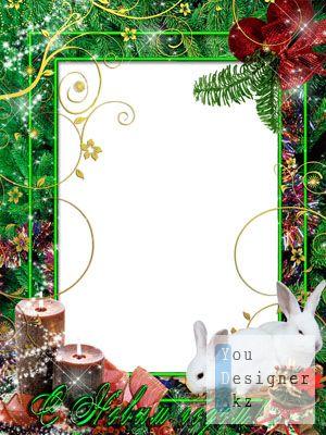 Рамка для фото – Новогодние свечи