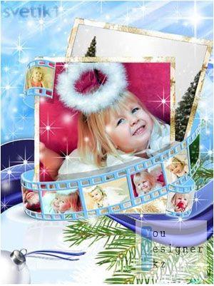Рамка для фотошопа - Новогодние фото