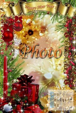 Новогодняя рамка для фото - Праздник 2012 / Christmas frame for the photo - the Holiday of 2012