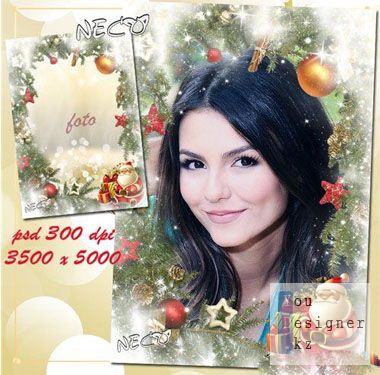 Новогодняя рамка - Новогодняя сказка / Christmas frame - Christmas tale