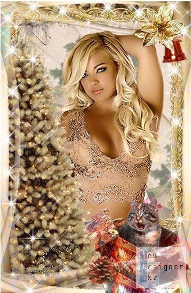Новогодняя рамочка для фото -Милый подарок / Christmas frame for the photo -Sweet gift