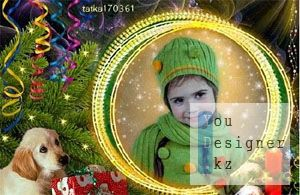 Новогодняя рамочка - Подарок от верного друга / Christmas frame, a Gift from a dear friend
