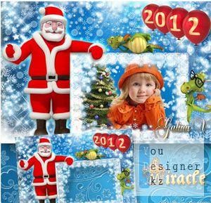 Новогодняя рамка - В ожидании чудес / Christmas frame - Waiting for miracles
