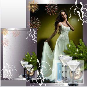 Новогодняя рамка для Фотошоп - Наедине с тобой / Christmas frame for Photoshop - Alone with you