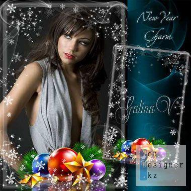 Праздничная рамка - Новогодний шарм / Holiday Frame - Christmas charm