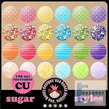 Стили для фотошопа –  Sugar styles/Сахарные стили