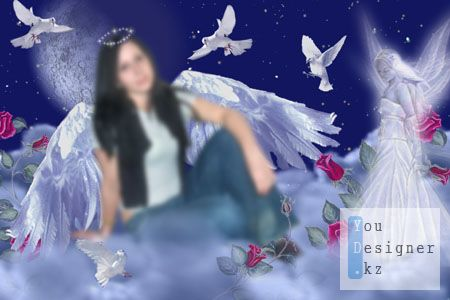 Шаблон для фотошопа-Ангел