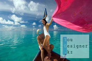 Мужской шаблон для фотомонтажа - На Мальдивах / Male template for photomontage - in The Maldives