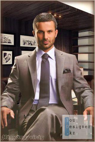 Мужской шаблон для Фотошоп - Элегантный Мужчина / Male template for Photoshop - Elegant Man