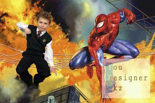 Шаблон для фотомонтажа-Человек паук