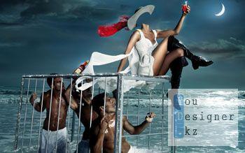 Шаблон для фотомонтажа-Повелительница мужчин / Template for the photomontage-leader of men
