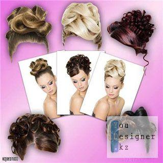 Клипарт для фотошопа - Высококачественные женские прически / Clipart for photoshop - high-Quality women's hairstyles