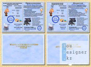 Шутливый шаблон прав по вождению коляски для мальчика / joking template of driving licence for boy baby carriage