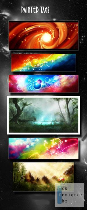 PSD Pack Painted Tags