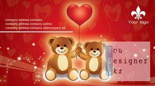Бизнес карты (Визитки) мишки / Business cards - Teddy bear