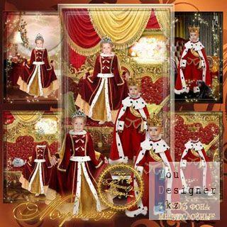 Детские шаблоны для фотомонтажа - Королевские наследники / Children's templates for photomontage - of Royal heirs