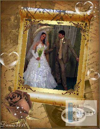 Свадебная рамочка для фото - Свадьба в стиле ретро