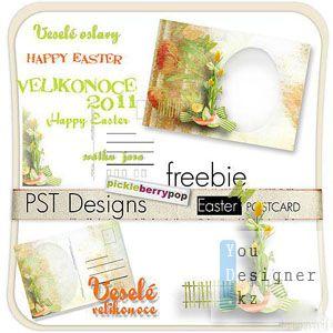 Cкрап-набор – Пасхальные открытки / Easter postcards