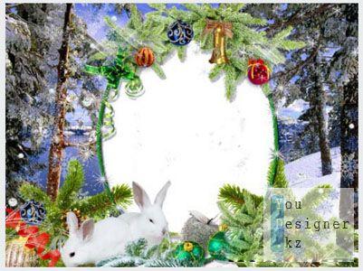 Рамка для фото – Новогодняя пурга