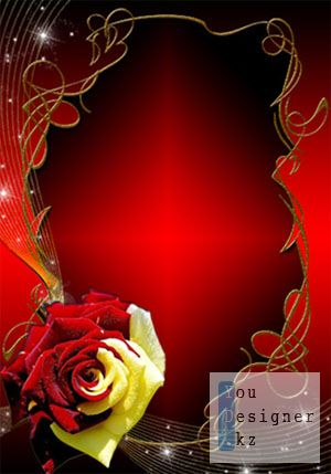 Рамка для фото - Необычная роза / Photo frame - Unusual rose