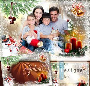 Рамка для фото - Рождественские колокольчики / The frame for a photo - Christmas bells