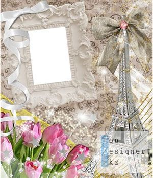 Рамка для фотошоп - Париж / Frame for photoshop - Paris