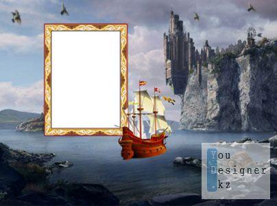 Рамка для Фотошоп Остров