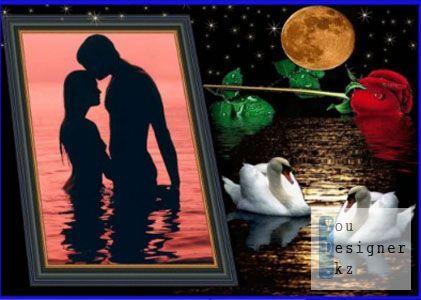 Рамка романтическая - Лунная дорожка