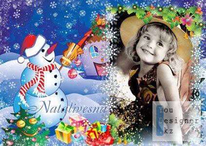 Рамка детская для Photoshop – Скоро праздник
