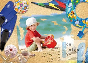 Рамочка - Фото в песке
