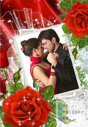 Рамочка с красными розами