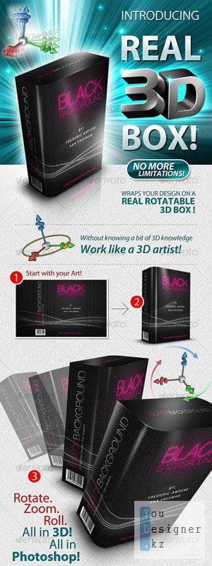 3D Box Generator & PSD Templates  Макрос (Action)