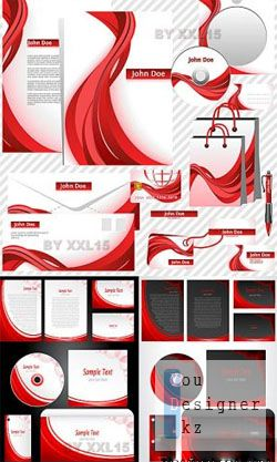 Red business templates