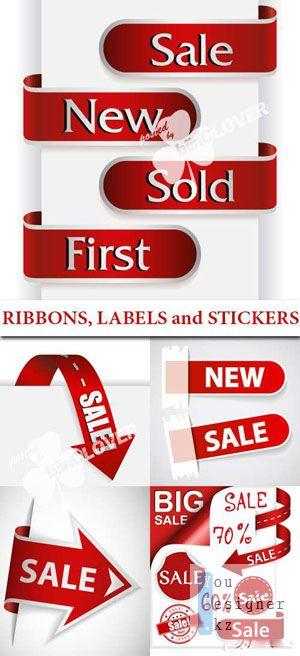 Ленты, этикетки и наклейки / Ribbons, labels and stickers