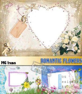 Романтические цветы | Romantic flowers (PNG frames)