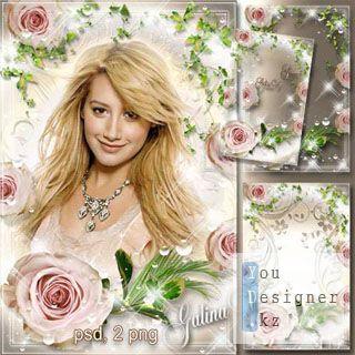 Цветочная рамка - Роза, воплощение красоты и величия / Flower Frame - Rose, the embodiment of beauty and greatness