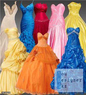 Скрап набор – Роскошные женские платья / Scrap kit - Luxurious women dresses