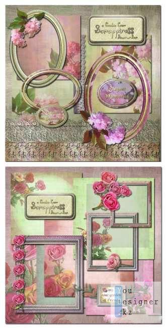 Скрап набор - Розовый сад / Scrap kit - Pink garden