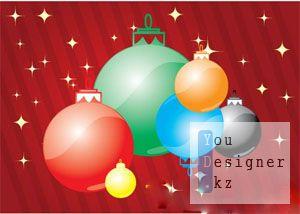 Рождественские елочные игрушки (Vector) / Christmas ornaments (Vector)