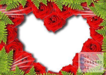 Рамка для фото - Сердечко из роз