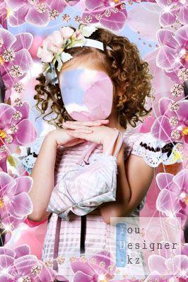 Шаблон для фотошоп -Розовые мечты